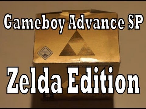 Gameboy Advance SP Zelda Limited Edition Unboxing & Review (GBA)