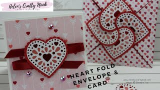 Valentines Heart Close Envelope and Card | From My Heart Suite Stampin' Up!® Mini Catalogue 2020