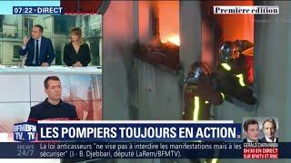 Incendie à Paris: les sapeurs-pompiers