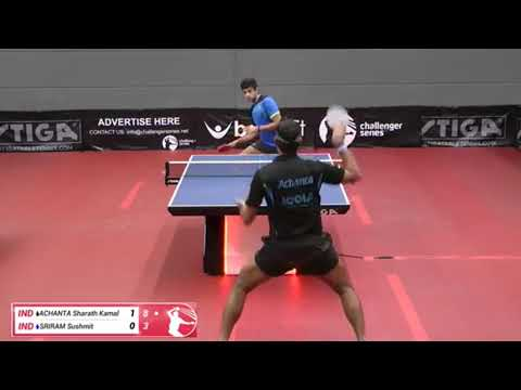 Sharath Kamal Achanta Vs. Sushmit Sriram (Challenger Series, Jan 10th 2018, Group Match)