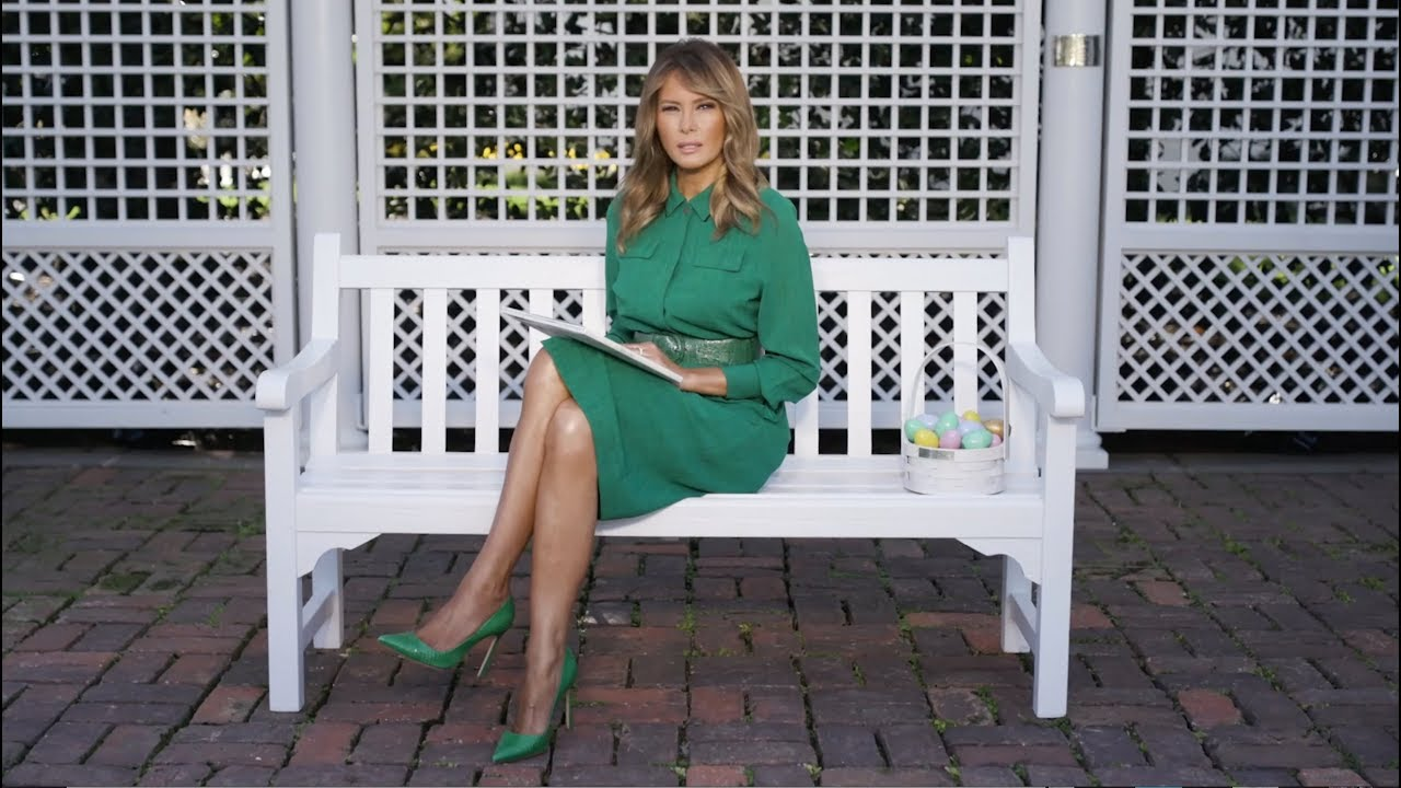 "First Lady Melania Trump Reads Easter Story ""The Little Rabbit"""