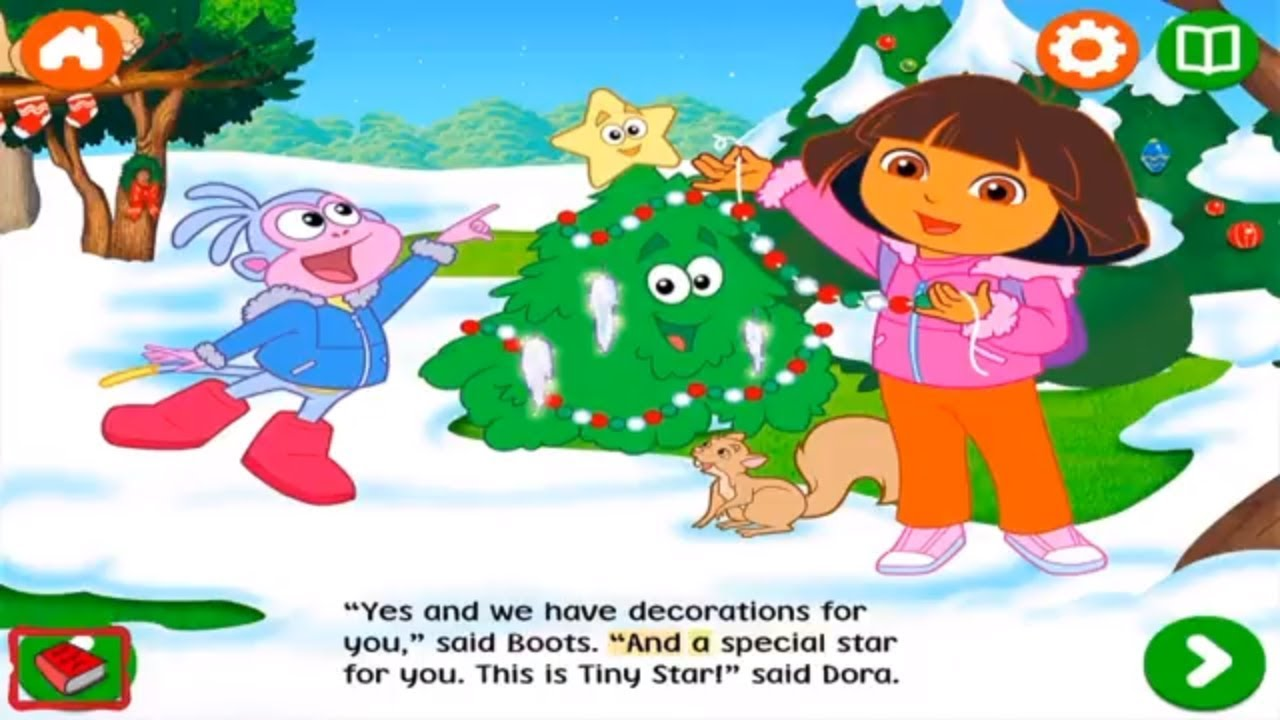 Dora the ExplorerThe Little Christmas TreeBooks for Kids YouTube