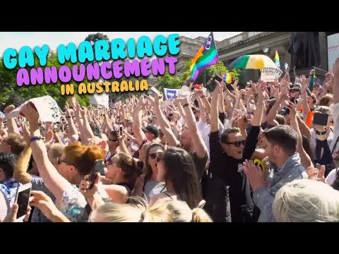 Gay Marriage Announcement In Australia