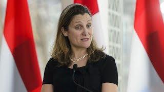 U S tariffs must be lifted with new NAFTA ratification Freeland says