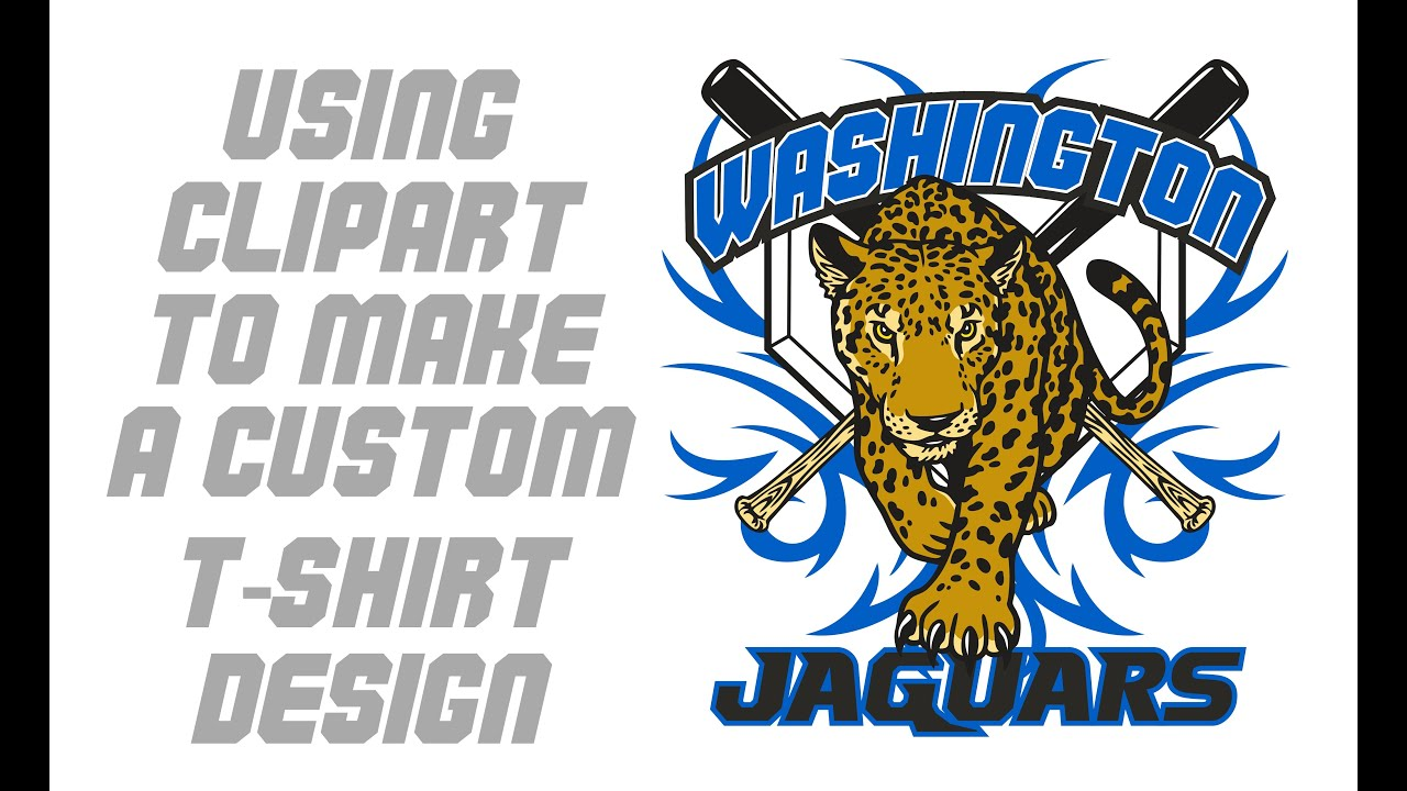 How to use clipart to make a mascot sports t shirt design for How to copyright at shirt design