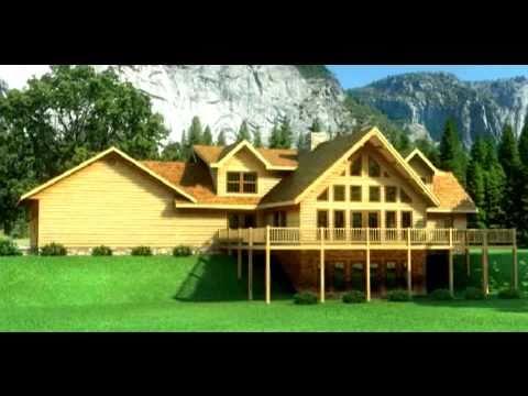 Casas de madera maciza modelo chesapeake en 3d youtube for Modelos de casas procrear clasica