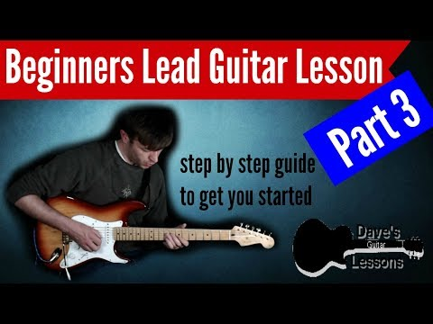 How to play Lead Guitar - Beginners Lesson - Part 3 techniques and solo walk through