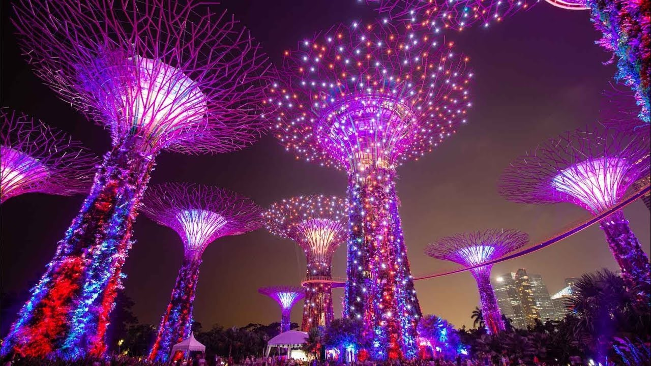 GARDEN RHAPSODY  MUSIC  LIGHTS SHOW AT GARDENS BY THE BAY!  YouTube