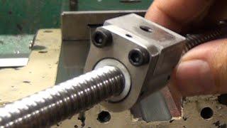 G0602 CNC Conversion pt7 - X-Axis Ballnut & Saddle