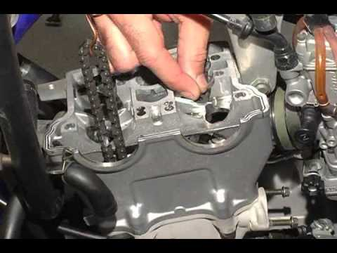 Hot Cams valve clearance inspection and adjustment on Yamaha YZ 250F