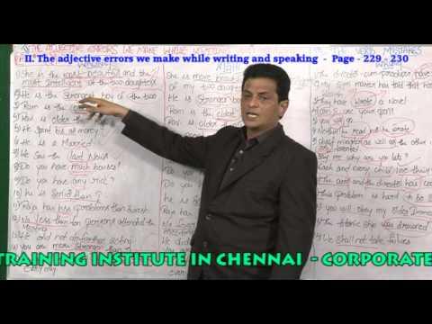 BEST ENGLISH GRAMMAR  TRAINING INSTITUTION IN  CHENNAI -  PH: 9840749872