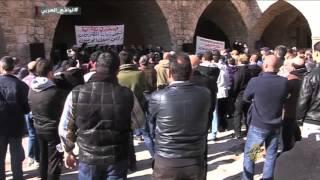 احتجاجات الموقوفين في سجن رومية بلبنان