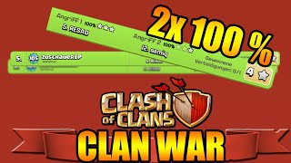 CLAN WAR OVERKILL 2x 100% ★ CLASH OF CLANS ★ Let's Play COC HD PC DEUTSCH GERMAN ANDROID ★