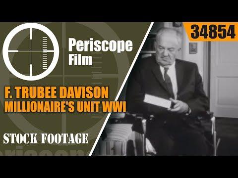 F. TRUBEE DAVISON / MILLIONAIRE