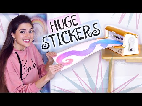 Making GIANT STICKERS with Xyron Sticker Machine