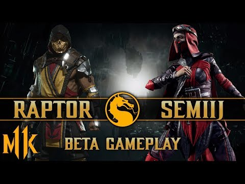 Mortal Kombat 11 Beta Day 1 - Raptor vs. Semiij thumbnail