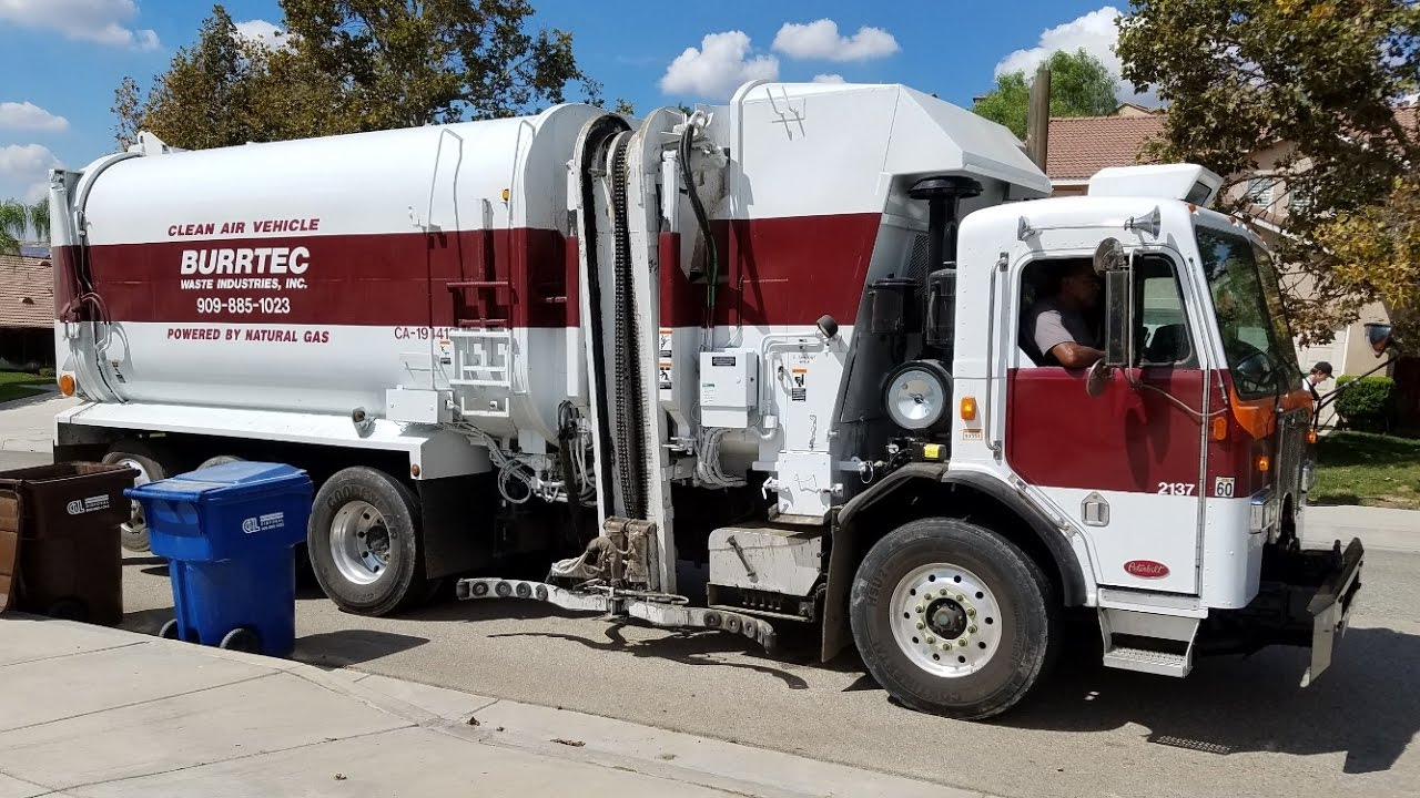 Burrtec Garbage Trucks of the San Bernardino Area - YouTube