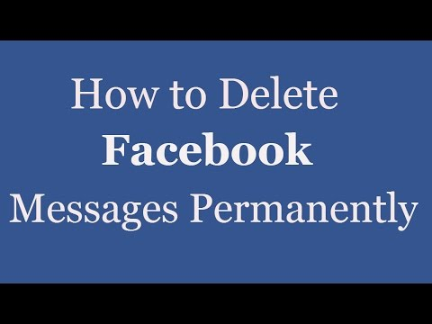 How To Delete Facebook Messages Permanently | Remove Facebook Messages