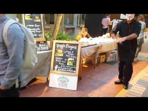 Wellington Night Market - In Bloom Vegan Burger
