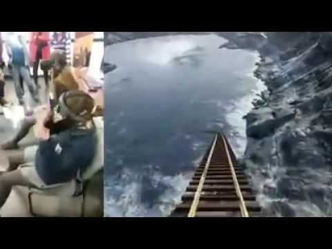 Peoples reaction watching roller coaster in virtual reality glasses./ vr glasses