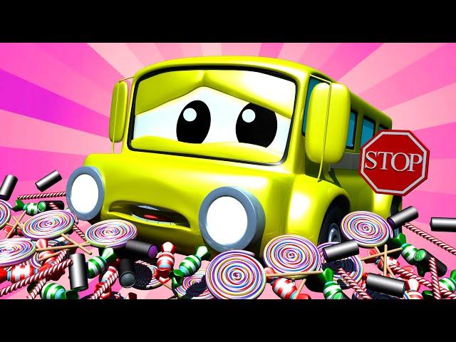 Tom la Grúa - Bebé Lily el BUS ROMPE su señal - Auto City   Dibujos animados para niñas y niños