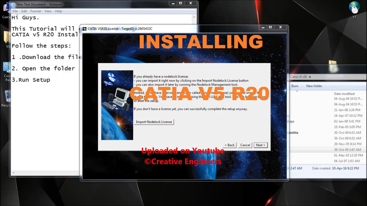 How to Install CATIA V5 R20 with License Manager (Product Installation  Guide)