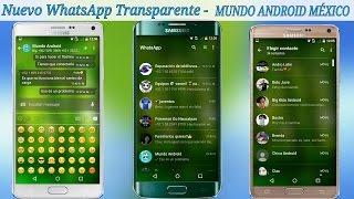 whatsapp transparente apk descargar gratis