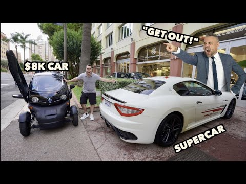 ATTEMPTING TO BUY A SUPERCAR SHOWING UP IN AN $8,000 BEATER!