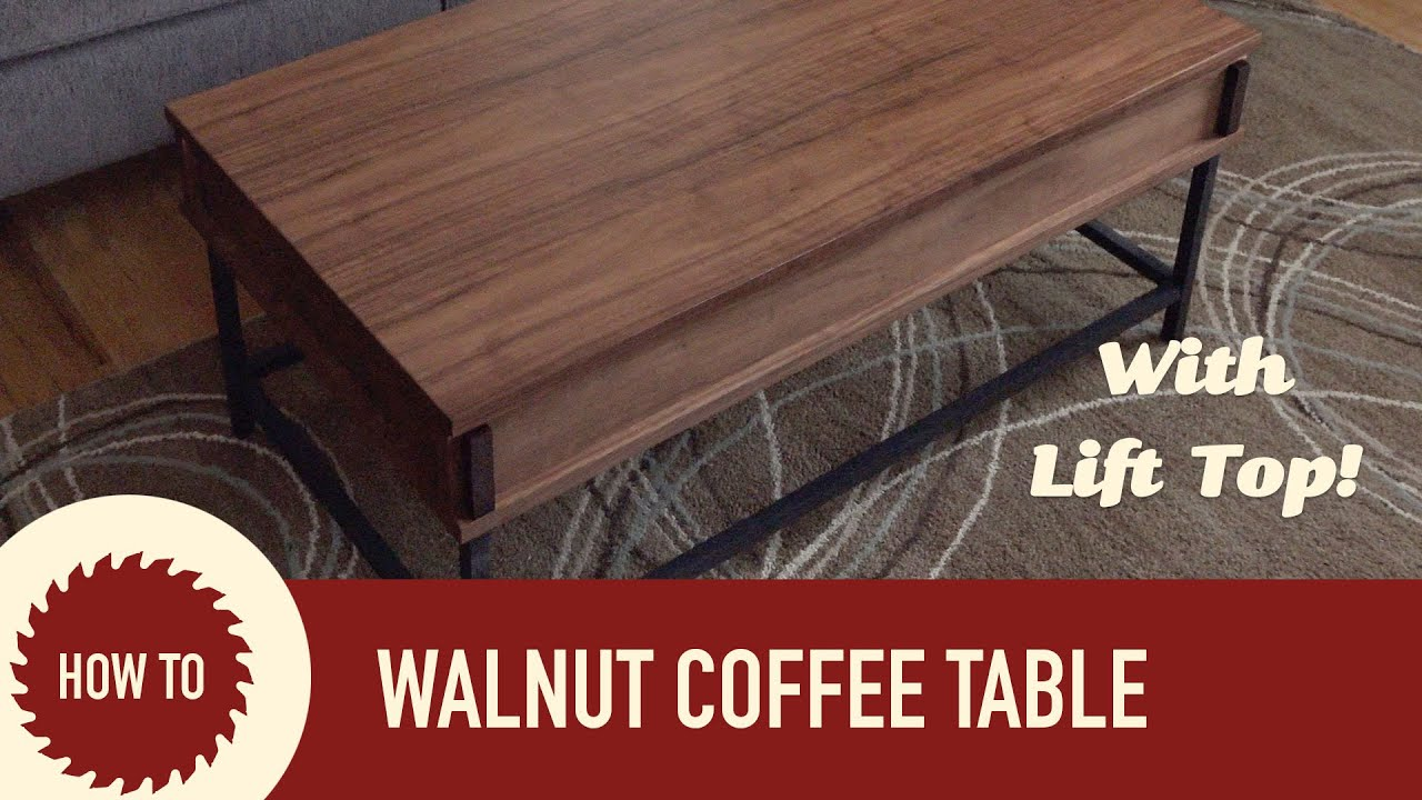 Easy to Make Coffee Table with Lift Up Top - YouTube