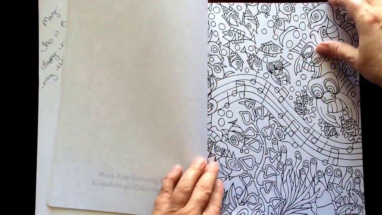 Underwater Rhapsody by Lizzy Blu - A Kaleidoscopia Coloring Book