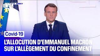 Allègement du confinement: l'allocution intégrale d'Emmanuel Macron
