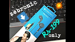 zebronics stereo earphone with mic ZEB-CALYX Review/ AT JUST Rs-199 only