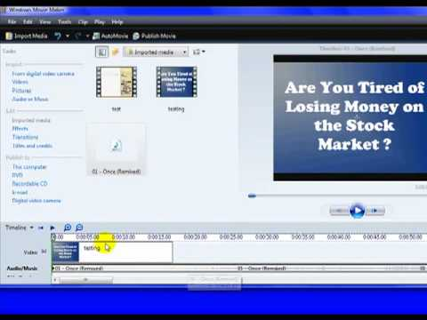 How To Add Audio with Windows Movie Maker To Your  Tutorial s  Part 8