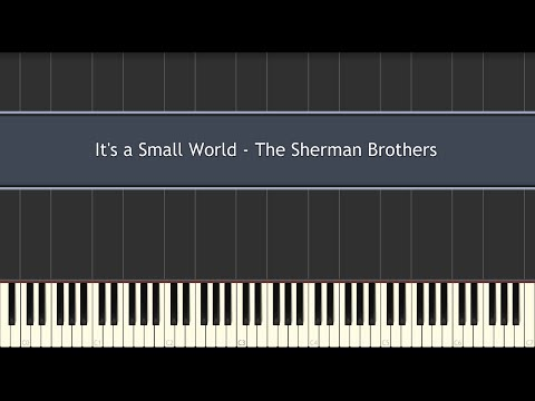 It's a Small World - The Sherman Brothers (Piano Tutorial)