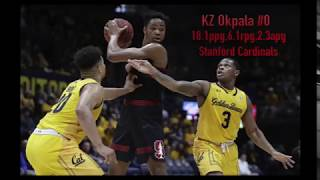 KZ Okpala Stanford Cardinals 30 PTS 8 REBS 4 AST vs California  Career High  Next Ones