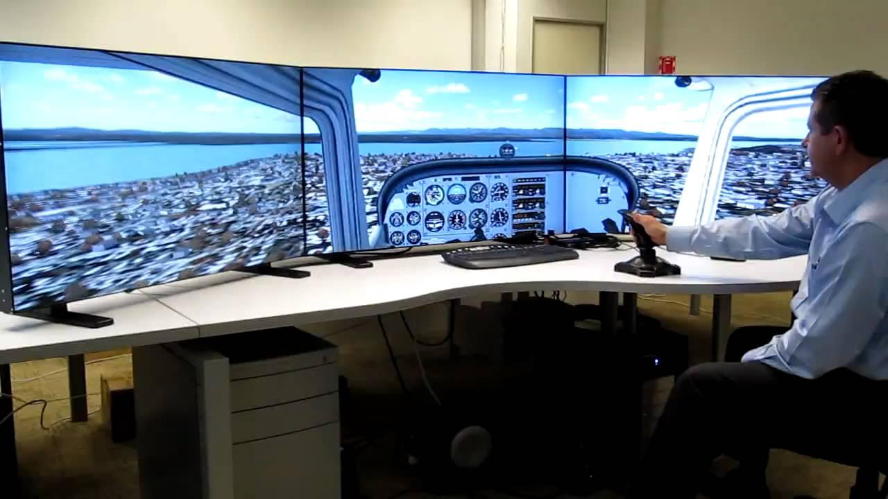 Flight Sim  Matrox TripleHead2Go on 3 x 46 NEC LCDs
