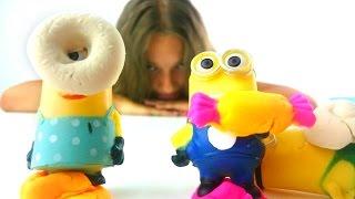 Лепим сладости для Миньонов из пластилина PlayDoh