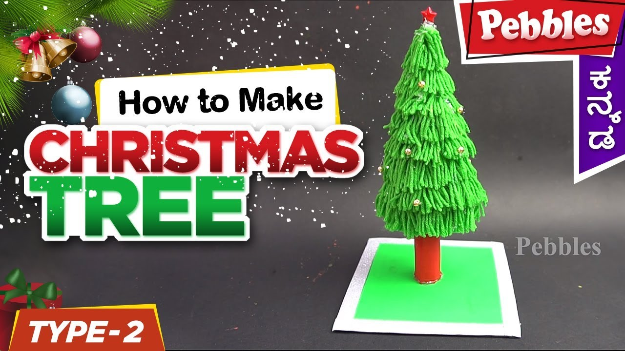 Christmas Woolen Tree Ideas Christmas Art And Craft Ideas