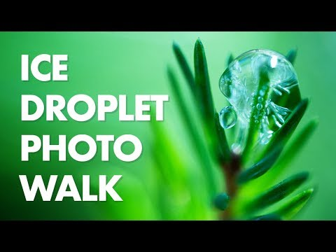Ice Droplet Macro Photography