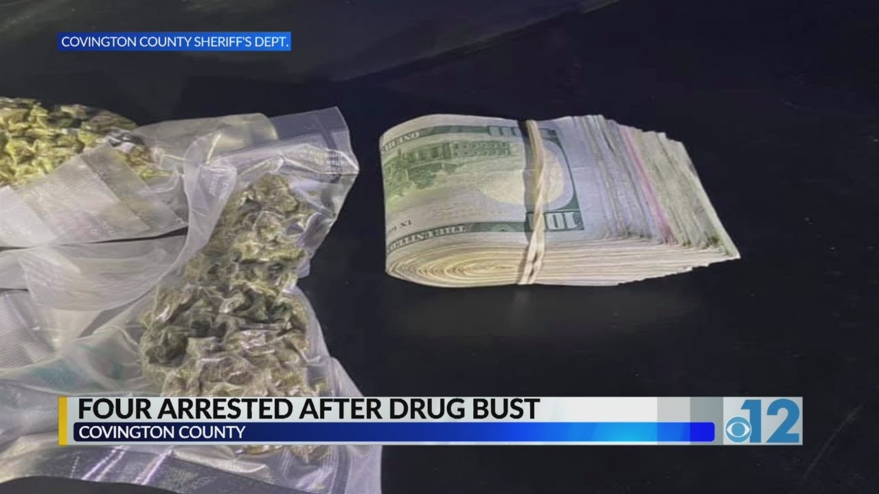 4 arrested in narcotics bust in Covington County