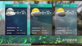 Прогноз погоды на 21-22 апреля