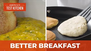 How to Make Homemade Breakfast Essentials like Easy Pancakes and Creamy Scrambled Eggs