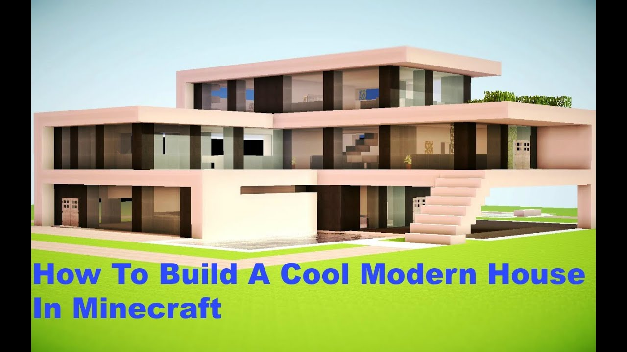 How To Build A Cool Modern House In Minecraft YouTube