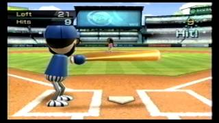 Wii Sports Baseball Batting Practice 30 Hits