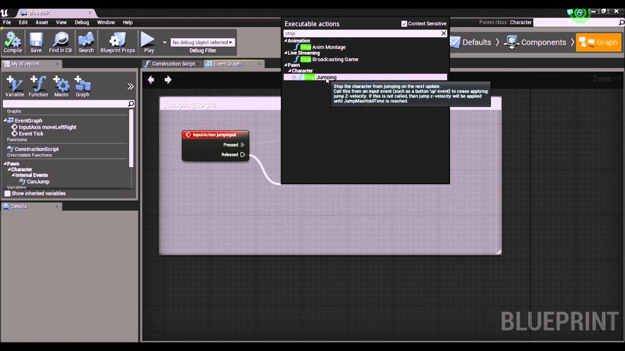 Unreal engine 4 2d game tutorial series 03 jumping blueprints unreal engine 4 2d game tutorial series 03 jumping blueprints malvernweather Gallery