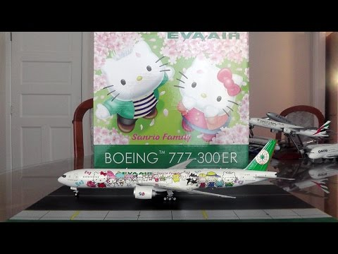 Phoenix/Eagle 1:200 EVA Air 777-300ER ''Hello Kitty'' Unboxing and Review