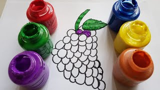 learn colors toddler/learn drawing & painting Grapes for kids/itchy bitchy spider