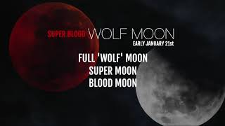 Stargazers will be treated to three lunar events in january, including a rare super blood wolf moon, which happen the early hours of jan. 21.