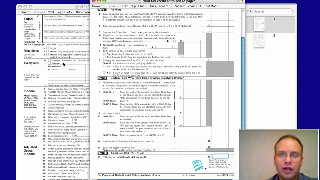 Worksheets Child Tax Credit Worksheet 2013 child tax credit limit for 2012 2013 youtube