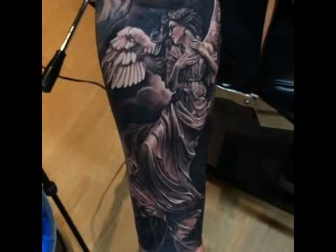 Tatuaje en el brazo de ngeles by Dmitriy Samohin YouTube